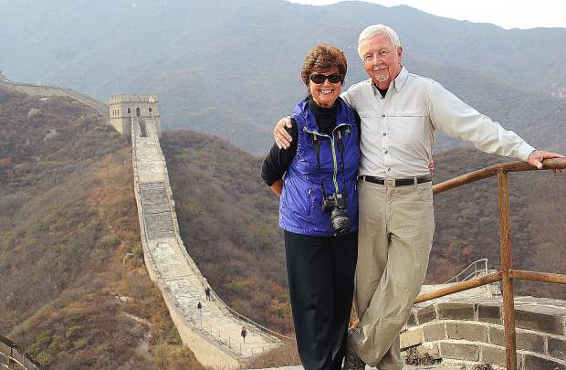 Bernadette and Ed Sylvester visited a remote section of the Great Wall of China in 2013.