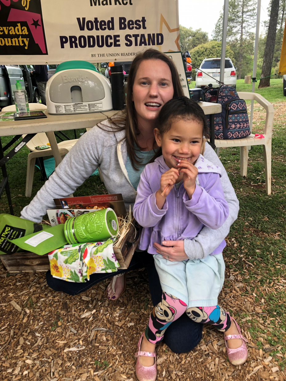 This mother and daughter were the winners of a recent vendor raffle. Photo by NCCGM
