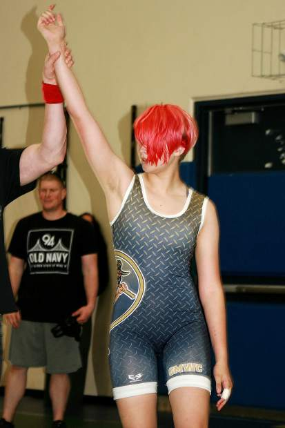 Goldmine wrestler Hannah Nelson took fourth in freestyle in the cadet division at the 2018 Sacramento Area Wrestling Association Championships.
