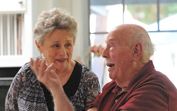 Wally and Mary Krill reminisce on their 70 years together as a married couple last week from their Nevada City home.