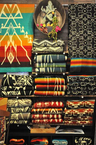 Soul Crafts held their grand opening along the 200 block of Commercial Street, showcasing their originally designed blankets and apparel.