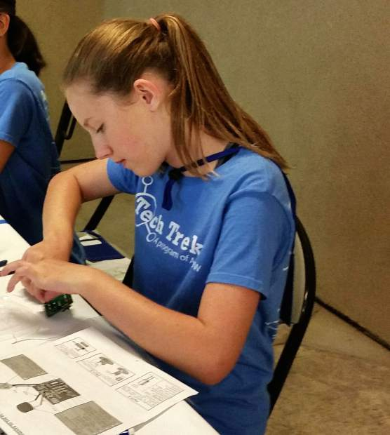 Lyman Gilmore student Faith Stubbs attended Tech Trek last year, where she engineered a circuit board during her environmental engineering core class.