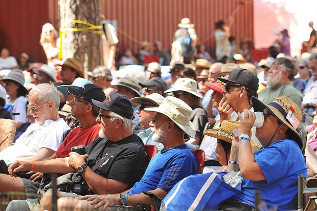 Large crowds return year after year to the fairgrounds for the annual Father's Day Bluegrass Festival.