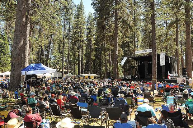 The music of fiddles, banjo's, upright bass' and other Father's Day fun flowed through the fairgrounds during the 43rd Annual Father's Day Bluegrass Festival held Thursday through Sunday in Grass Valley.