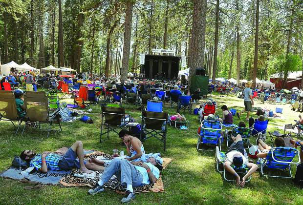 With bluegrass related activities occurring at the Nevada County Fairgrounds all week, catching folks napping in front of a stage or in a shady patch of grass, is not a rare occurrence.
