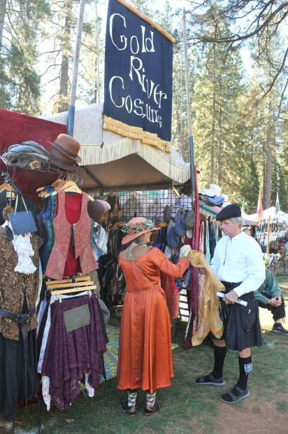 Celtic vendors offered many different wares, from full attire, to flasks, wooden swords, and everything in between.