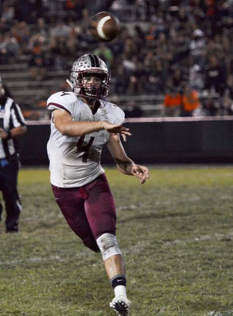 Bear River quarterback Luke Baggett and the Bruins will face off with Colfax in the Sac-Joaquin Section D-V championship game Saturday.