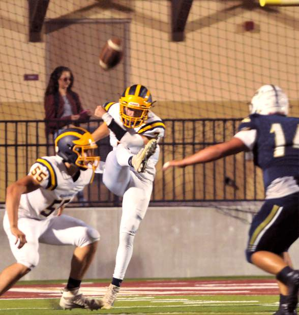 Nevada Union punter Owen Dal Bon was named to the 2017 All-SFL Second Team.