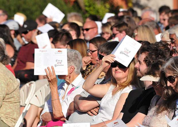 Spectators fill the seats to watch their Ghidotti graduates during Wednesday's ceremony.