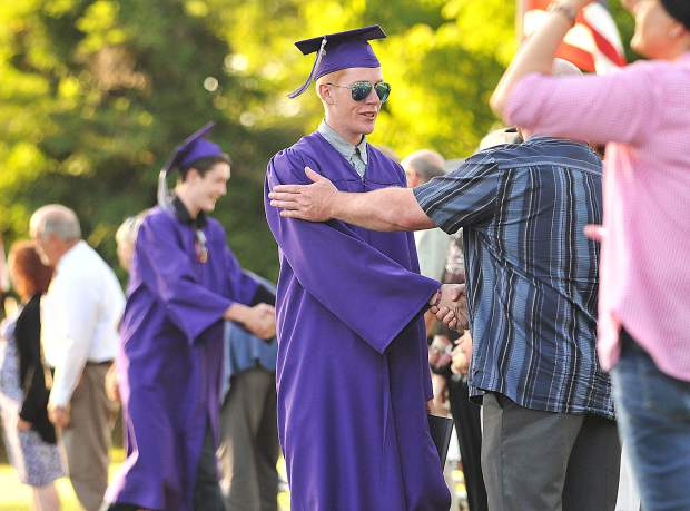 Silver Springs class of 2018 graduates thank their instructors and school faculty during Thursday's graduation ceremony.