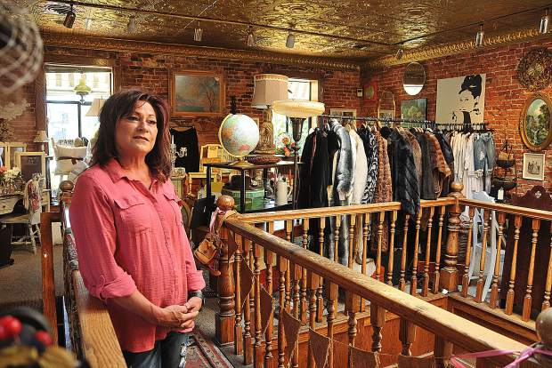 Susan Escano's collections range from vintage clothing, to antiques and historic items, all for sale at her downtown Grass Valley antique store, Vintage on Main.