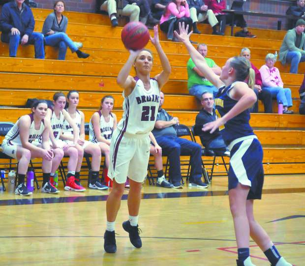 Bear River's Katelyn Meylor (21) leads the Lady Bruins in scoring this season with 16.2 points per game.