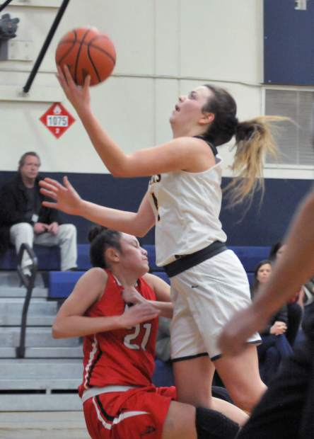 Nevada Union's Meadow Aragon led the Lady Miners with 21 points in Tuesday's win over Lodi.