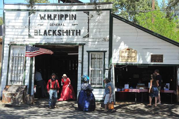 The historic Fippin Blacksmith Shop in Rough and Ready was open by the Chamber of Commerce during Sunday's Secession Days. The blacksmith shop was built in the mid 1850s.