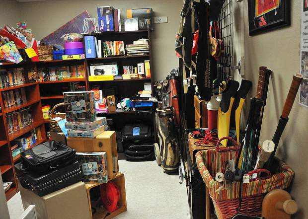 The Women of Worth Thrift Store in Nevada City uses different rooms to showcase a variety of items ranging from sports equipment, books, childrens, clothing, furniture and other items.