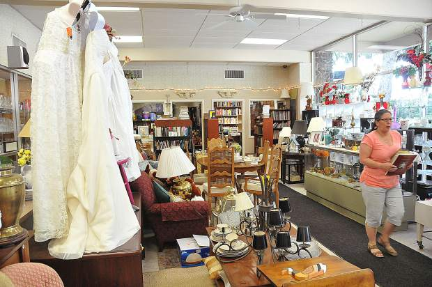 Items in the Women of Worth Thrift Store range from wedding dresses to cookware, children's items, books and sporting equipment.