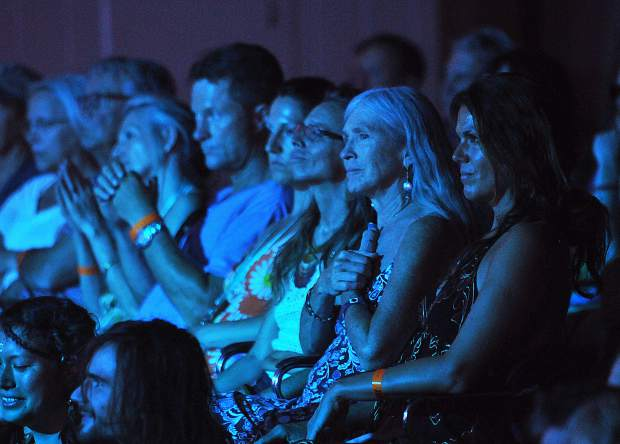 Folks watch sitarist Anoushka Shankar's set during California WorldFest last week in Grass Valley