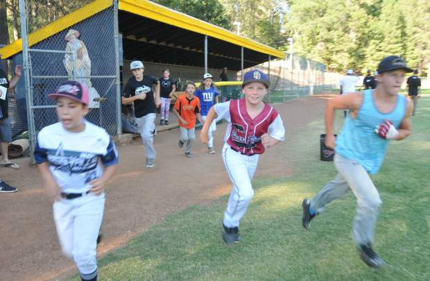 Youth ages 4 and up take to the field during a free Sierra Nevada Elite Baseball Academy camp held at Nevada Union High School.