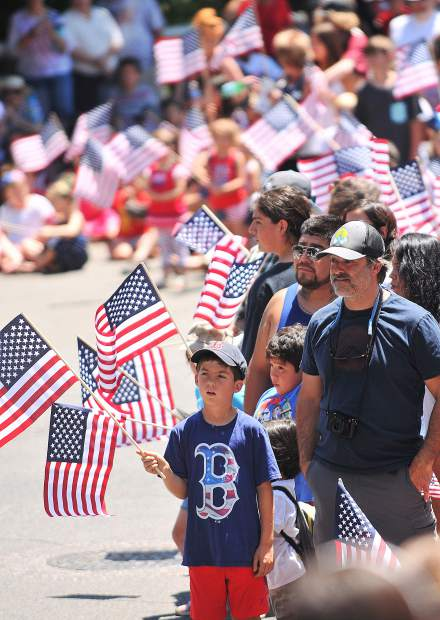 Hundreds lined the streets Wednesday to celebrate Independence Day in downtown Nevada City during the annual parade that alternates each year with the city of Grass Valley.