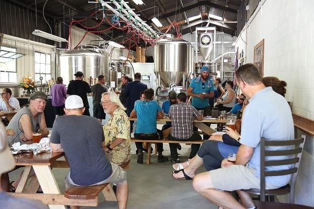 The brewery portion of Grass Valley Brewing Company is now open for business in downtown Grass Valley. The taproom portion of the building, located next door, is still a few weeks away from opening.