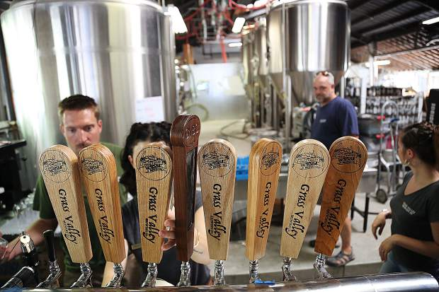 Grass Valley Brewing Co. brews 12 beers, all of which they have on tap at Nevada County's newest brewery located on Main Street in downtown Grass Valley.