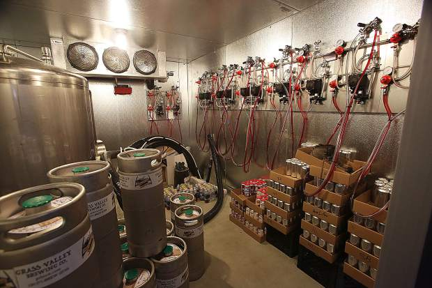 The Grass Valley Brewing Company's taps are all hooked up and ready to go on the taproom portion of the brewery, slated to open in the next few weeks.