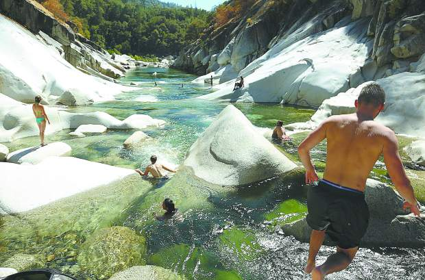 Folks enjoy a safe day on the South Yuba River cooling down from Tuesday's high temperatures, which reached 97 degrees in Grass Valley. Temperatures are expected to climb through Thursday before a downward trend will leave Nevada County in the mid 90s by the weekend.