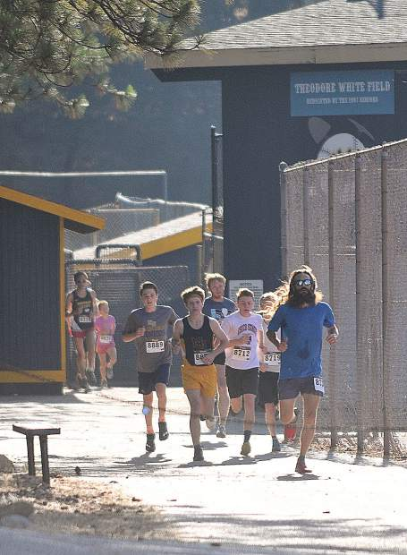Runners compete at the12th annual Freedom Run 5K held Wednesday at Nevada Union High School.