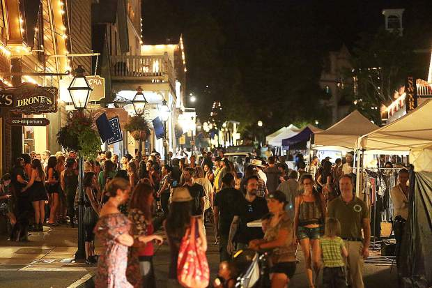 Hundreds of people pack the streets of downtown Nevada City for the final Summer Nights street faire of the year.