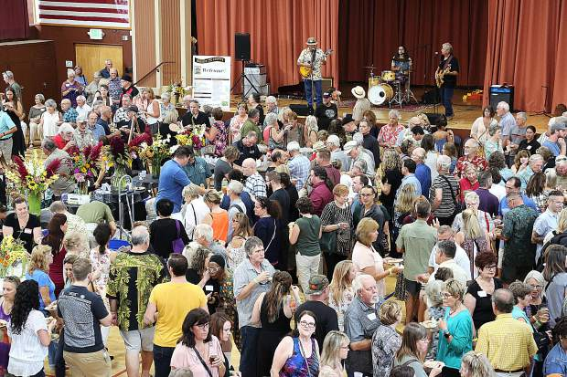 A packed Veterans Memorial Hall in Grass Valley is filled with patrons looking to get a taste of what Nevada County's best food and drink establishments have to offer.