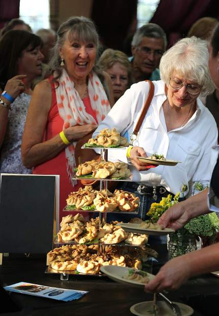 More than 600 people took place in Thursday's Bounty of the County farm to fork event held this year at the Veterans Memorial Hall to accommodate the influx of people. Emily's Bakery's Zucchini Cashew Dill Tart (pictured) was one of the more popular items that ran out before the event was finished.