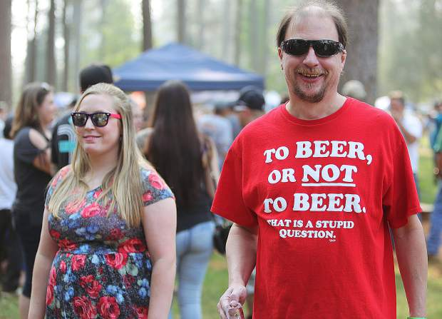 Beer themed apparel was abound during the 2018 Sierra BrewFest.