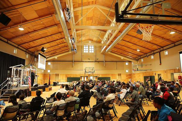 The newly completed Stephen S. Ball Conference Center at the Salvation Army's Camp Del Oro, features a gymnasium that doubles as a multi-purpose center.