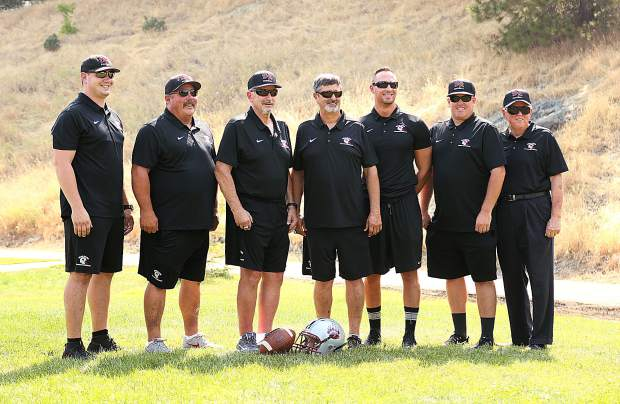 Bear River's coaching staff puts on smiles for picture day.