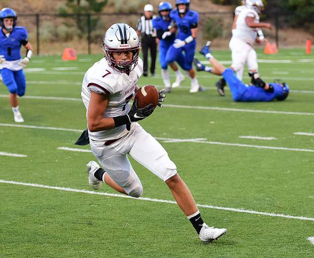 Bear River's Dylan Bergez-Scott finished with three catches for 63 yards and a touchdown in the Bruins win over South Tahoe.