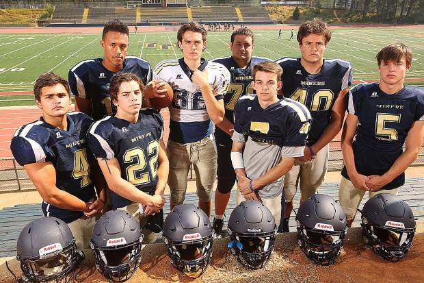The Miners have multiple impact players this season and have their sights set on making the playoffs for the first time since 2012. From left: Duke Morales, Cameron Dallago, Hayden Lee, Parker Heilaman, Dylan Hart, A.J. Meyer, Matthew Dal Bon and Dawson Fay.