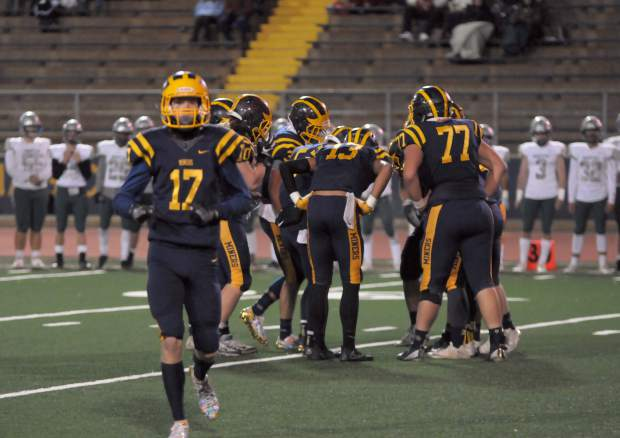Nevada Union lost to Granite Bay 23-0 Friday night at Hooper Stadium. The Miners struggled in the red zone, going 0-for-3 on the night.