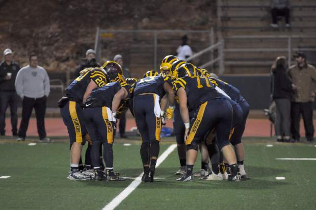 Nevada Union dropped to 2-7 overall and 0-5 in Sierra Foothill League play after a 23-0 loss to Granite Bay Friday night at Hooper Stadium.