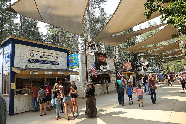 Treat Street at the Nevada County Fairgrounds begins to fill up during opening day Wednesday afternoon.