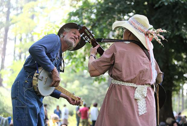Volunteer docents of all talents helped support the 123rd annual Miners Picnic last year, from musicians dressed in period attire, to trappers, miners, and more.