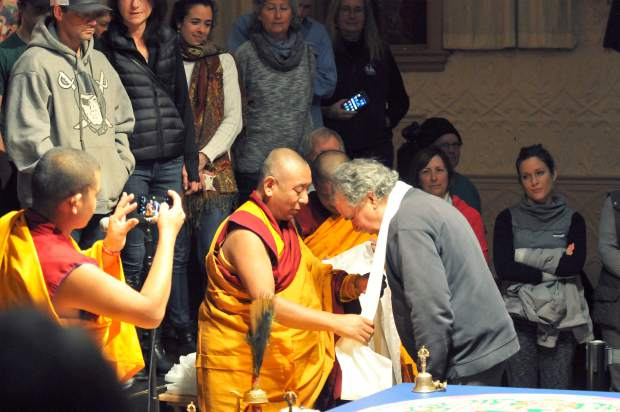 The monks honor a handful of community members that have aided in their two week stay in Grass Valley.