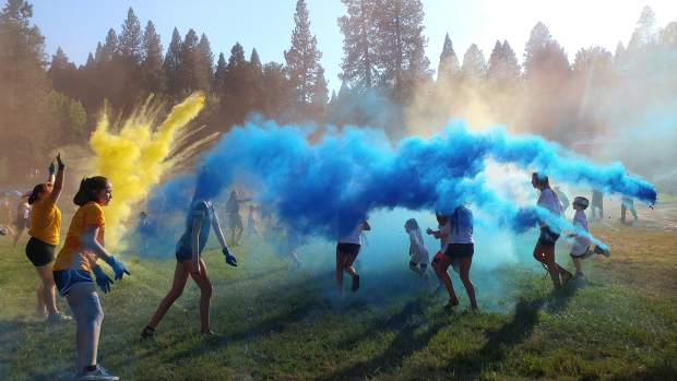 Colors of all hues filled the air in Nevada City's Pioneer Park for the first jointly held National Night Out between the law enforcement agencies of Grass Valley, Nevada City, and Nevada County.