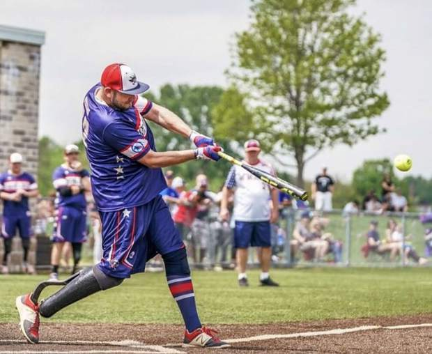 Cody Rice has been a member of the Wounded Warrior Amputee Softball Team since 2014.