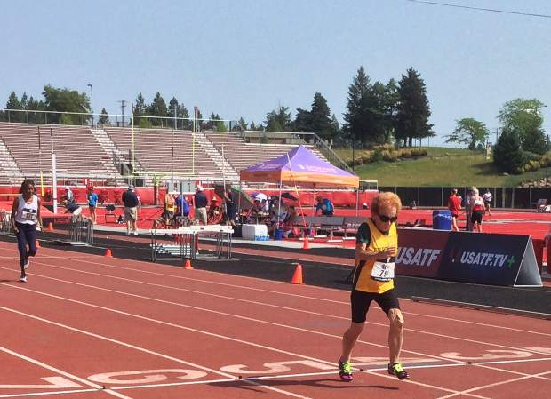 Sierra Gold athlete Betts Stroh won three events at the 2018 USATF National Masters Track & Field Championships in Spokane, Washington. Obera earned national championships in women's 85-89 100-meter, 200m and long jump events.