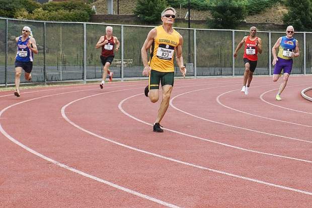 Sierra Gold's Bob Thurman competes at the 2018 USATF National Masters Track & Field Championships in Spokane, Washington.