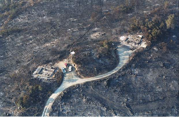 More than 300 structures, including many homes, burned to the ground during the 49er Fire in western Nevada County.