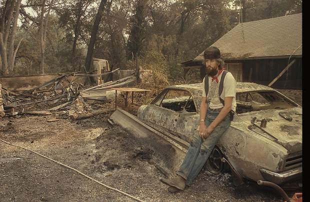One of several homes destroyed by the 49er Fire in 1988.