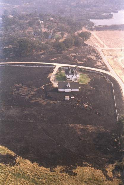 A home that was saved from destruction from the 49er Fire.