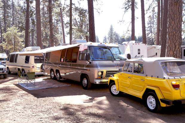 RV camping during the Draft Horse Classic at the Nevada County Fairgrounds Thursday.