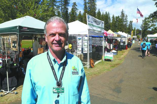 Rea Callender, CEO of the Nevada County Fairgrounds, at the Draft Horse Classic Thursday.